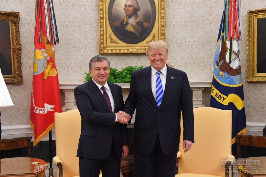 President of Uzbekistan on his first official visit to US