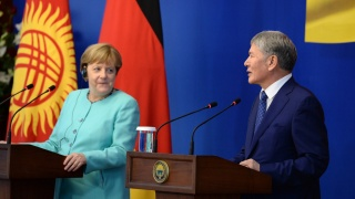 Merkel in Kyrgyzstan: no news from the western front
