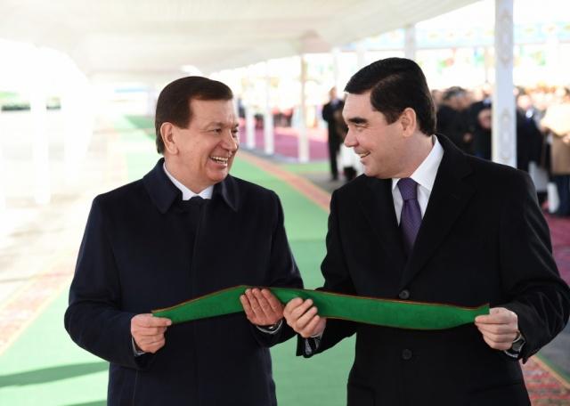 Presidents of Turkmenistan and Uzbekistan open bridge of strategic importance